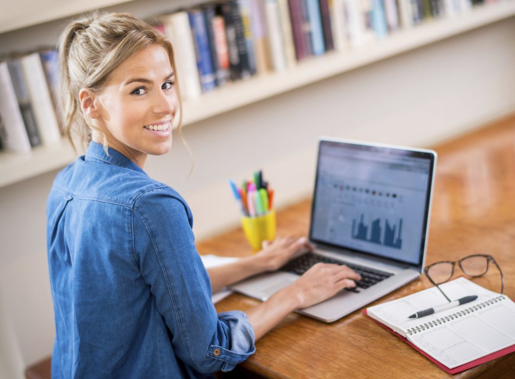 Woman figures out how to create an invoice and get paid faster