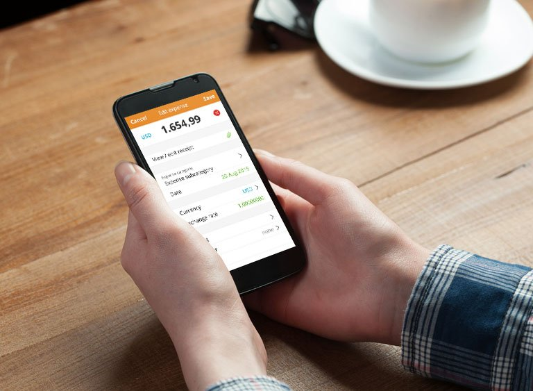 Using an online expense tracking app is pretty simple...