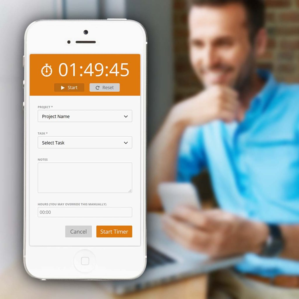 Timesheet app with online time tracker