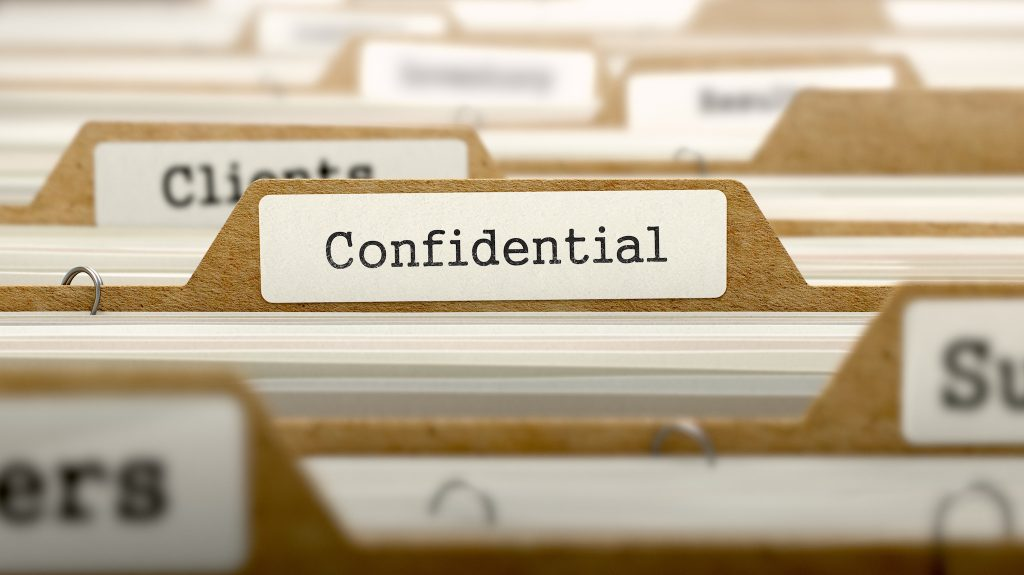 Condifdentiality and security of business data
