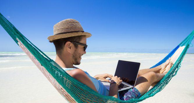 Digital nomad, entrepreneur working online.