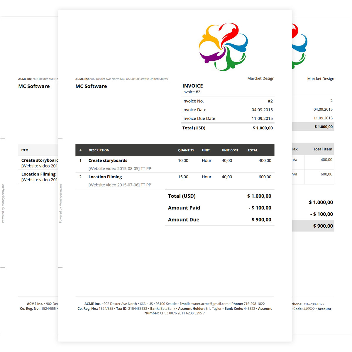Invoice MoneyPenny Dictionary - Order invoices online