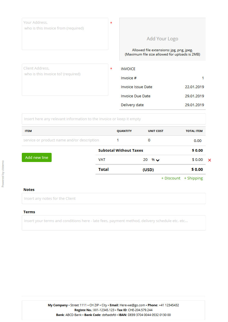 Template For Invoice | Free Invoice Templates Blank Templates To Download