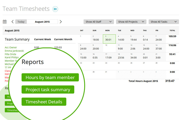 Team management report made easy