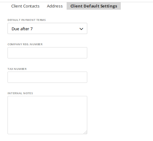Client default settings