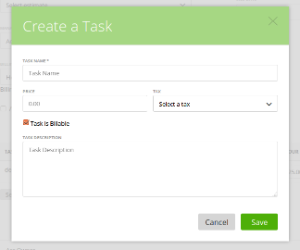Create a new task for the project