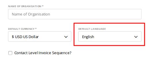 Default language