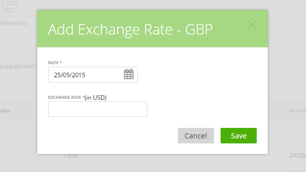 Add Exchange Rate