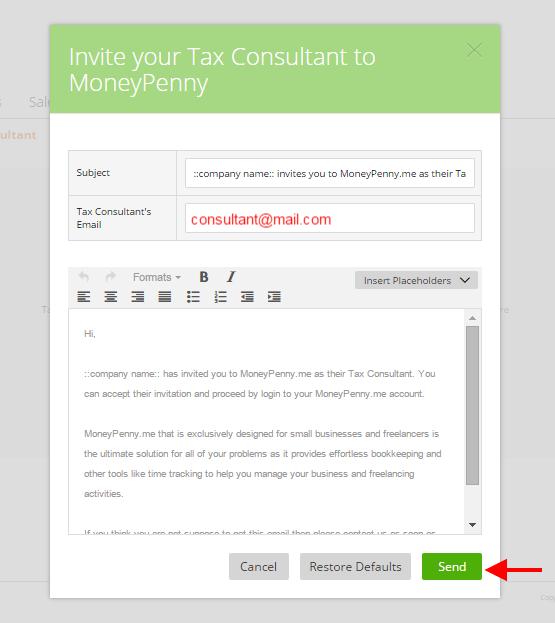 Invite a tax consultant