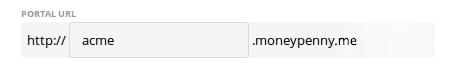 Portal URL field