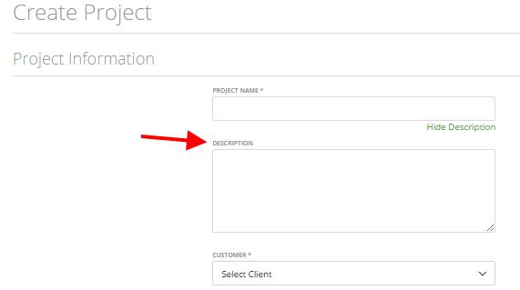 Project data – description