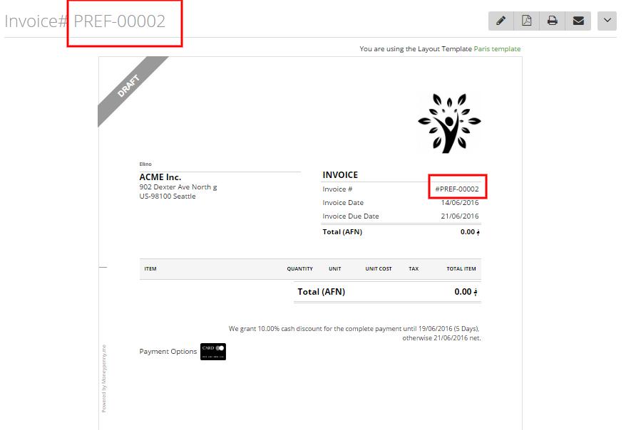 Customize invoice estimate number formats 2