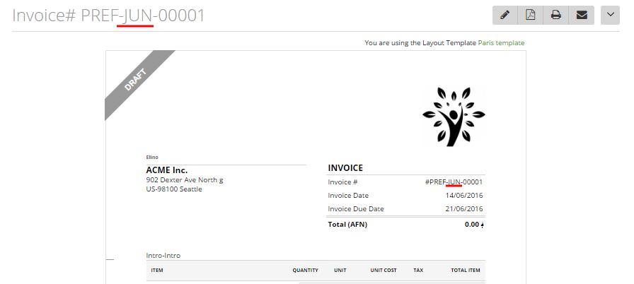 Customize invoice estimate number formats 4