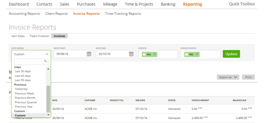 filters-on-invoices-report