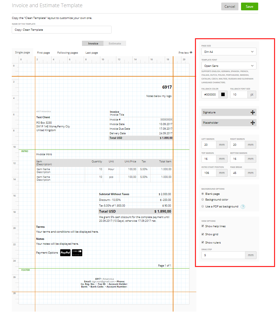 stationery templates your own invoice estimate template