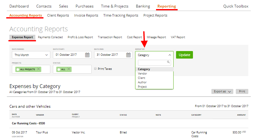 expense report moneypenny knowledge base