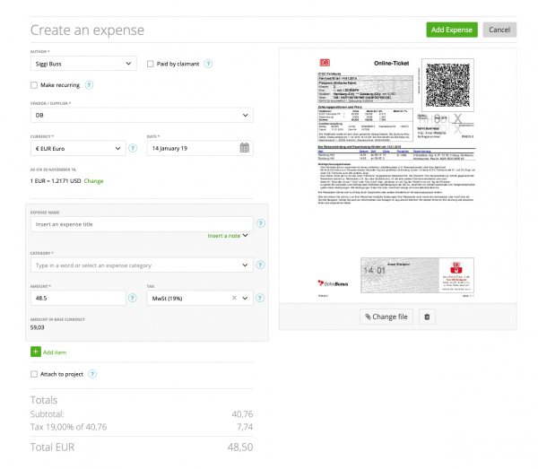Optical Character Recognition (OCR) on Receipts – BETA